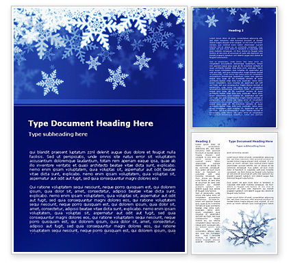 Snowflakes Night Word Template, 08967, Holiday/Special Occasion — PoweredTemplate.com