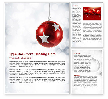 Christmassy Word Template, 08968, Holiday/Special Occasion — PoweredTemplate.com