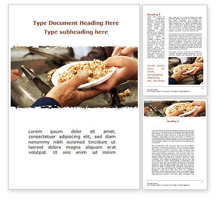 Religious/Spiritual: Charitable Food Word Template #08971