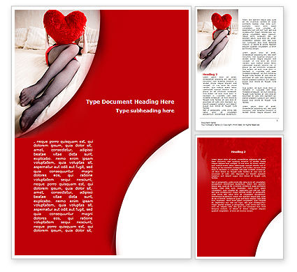 Lady with Heart Word Template, 08976, Holiday/Special Occasion — PoweredTemplate.com