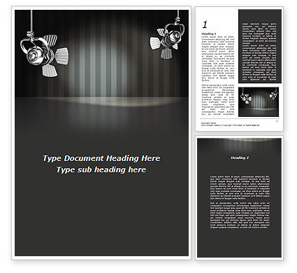 Careers/Industry: Theater Scene Word Template #08977