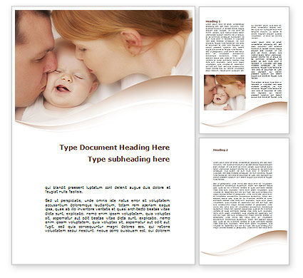 People: Baby's Family Word Template #08978