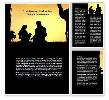 Birth of Jesus Word Template, 08981, Religious/Spiritual — PoweredTemplate.com