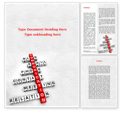 Modern Communication Crossword Word Template, 08992, Careers/Industry — PoweredTemplate.com