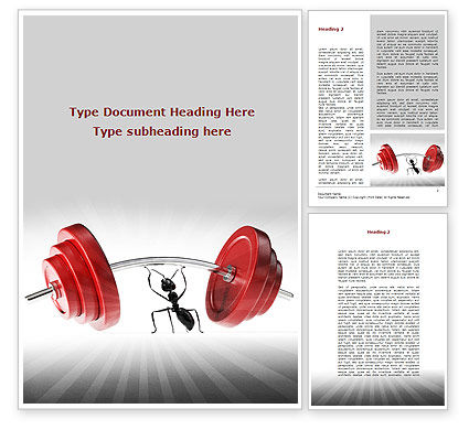 Consulting: Ant Under the Weight Word Template #08998