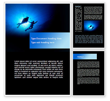 Careers/Industry: Diving Under The Sea Word Template #09003