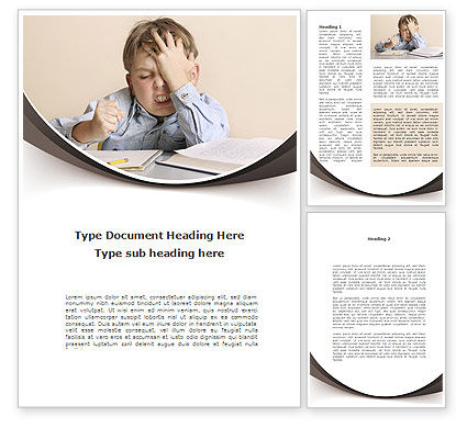 Education & Training: Educational Problems Word Template #09004