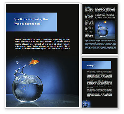 Aquarium Fish is Jumping Word Template, 09014, Business Concepts — PoweredTemplate.com