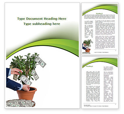 Money Tree Growing Word Template, 09015, Financial/Accounting — PoweredTemplate.com