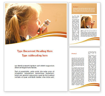 Medical: Respiratory Disease Word Template #09026