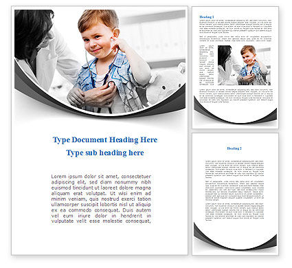 Treatment Of Pediatrician Word Template, 09032, Medical — PoweredTemplate.com