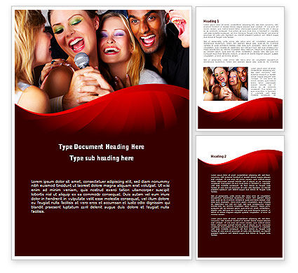 Art & Entertainment: Karaoke Party Word Template #09034