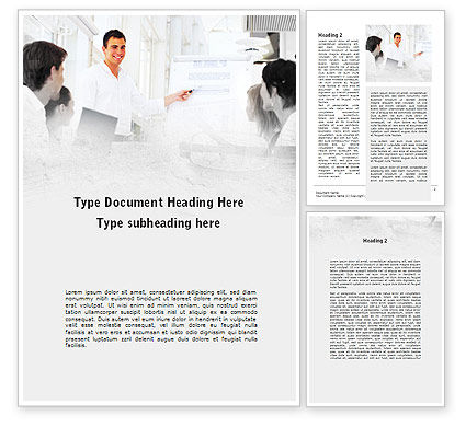 Presentation Of Consultant Word Template, 09043, Consulting — PoweredTemplate.com