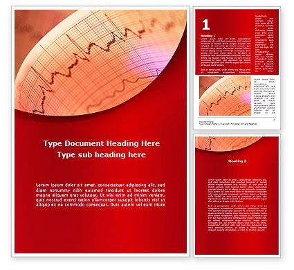 Cardiogram Band Word Template, 09045, Medical — PoweredTemplate.com