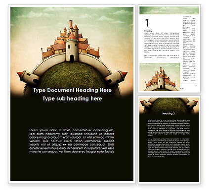 Education & Training: Fantasy Castle Word Template #09050