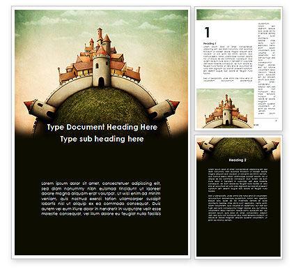 Fantasy Castle Word Template