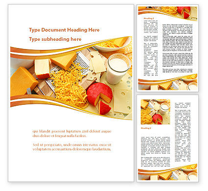Hard Cheese And Milk Word Template, 09051, Food & Beverage — PoweredTemplate.com