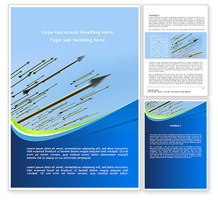 Business: Flying Arrows Word Template #09057