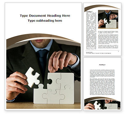 Puzzle Assembled Word Template, 09062, Business — PoweredTemplate.com