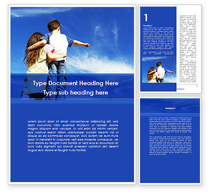Sister And Brother Word Template, 09072, People — PoweredTemplate.com
