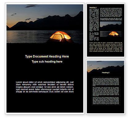 Quiet Lake Word Template, 09073, Holiday/Special Occasion — PoweredTemplate.com