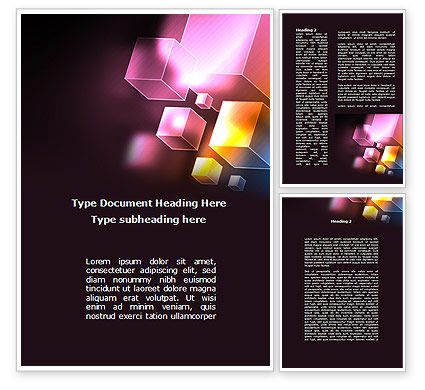 Abstract/Textures: Abstract Cubes Word Template #09076