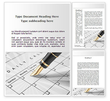 Business: Diary Word Template #09081