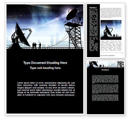 Antennas Word Template, 09082, Telecommunication — PoweredTemplate.com