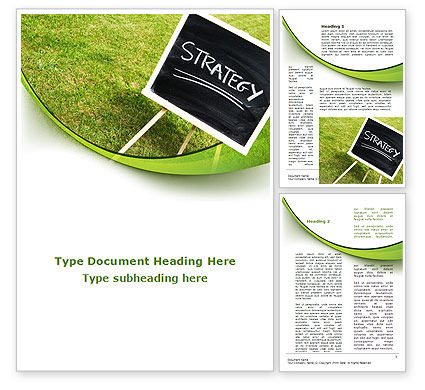 Business Concepts: Strategy Sign Word Template #09087