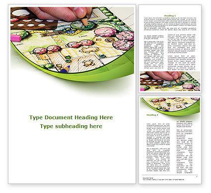 Construction: Garden Planning Word Template #09098