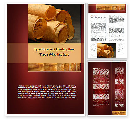 Education & Training: Scrolls Word Template #09100