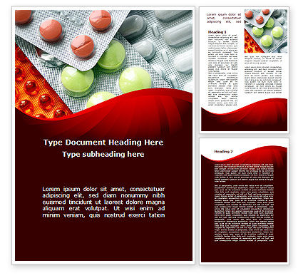 Medical: Tablets In Assortment Word Template #09106