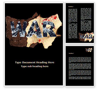 War Word Template, 09107, Military — PoweredTemplate.com