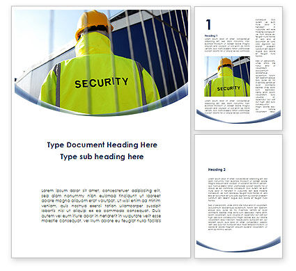 Security Officer Word Template, 09108, Careers/Industry — PoweredTemplate.com