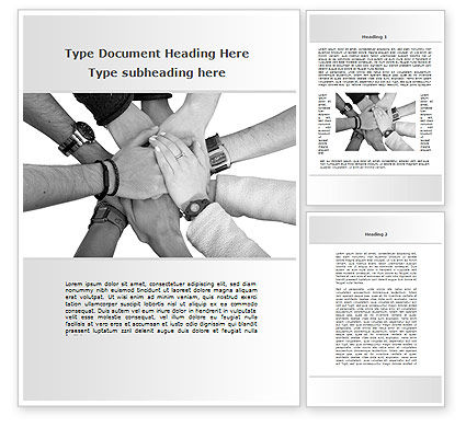 Religious/Spiritual: Hands To Hands Word Template #09112