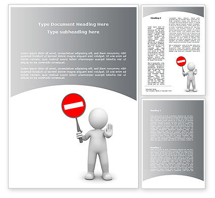 Stop Moving Word Template, 09114, Business Concepts — PoweredTemplate.com