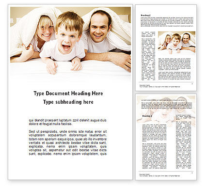 Modern Family Word Template, 09116, People — PoweredTemplate.com