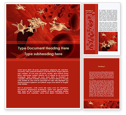 Blood and Virus Word Template, 09126, Medical — PoweredTemplate.com