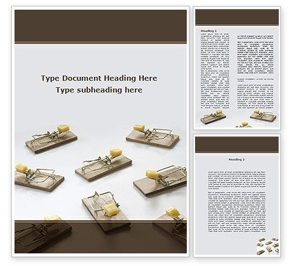 Business Concepts: Mouse Traps With Cheese Word Template #09127