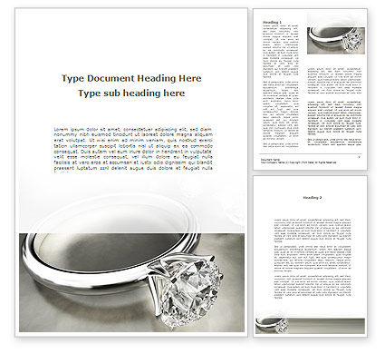 Diamond Ring Word Template, 09135, Holiday/Special Occasion — PoweredTemplate.com