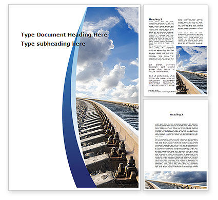 Cars/Transportation: Railway Track Word Template #09146