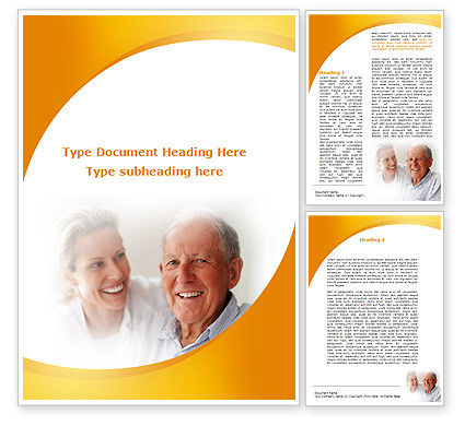 Aged Spouse Word Template, 09147, People — PoweredTemplate.com