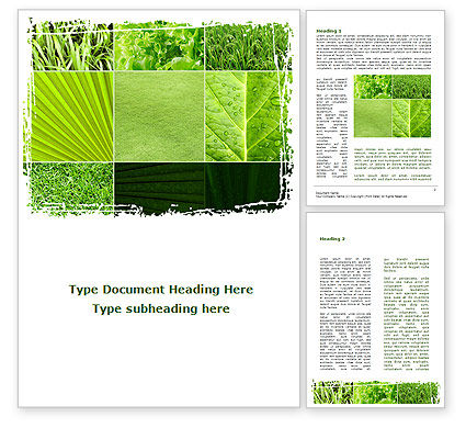 Nature & Environment: Agronomy And Agriculture Word Template #09148