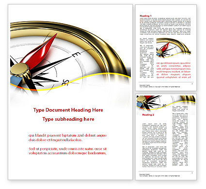 Holiday/Special Occasion: Compass in Business Consulting Word Template #09155