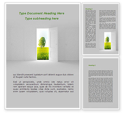 Nature & Environment: Door is Open Word Template #09156