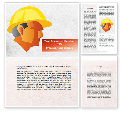 Builder's Portrait Word Template, 09157, Construction — PoweredTemplate.com
