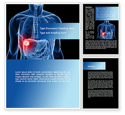 Plantilla de Word - enfermedad del higado, 09158, Medical — PoweredTemplate.com