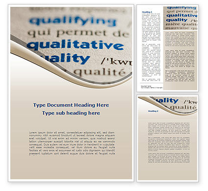 Meaning of Quality Word Template, 09160, Consulting — PoweredTemplate.com