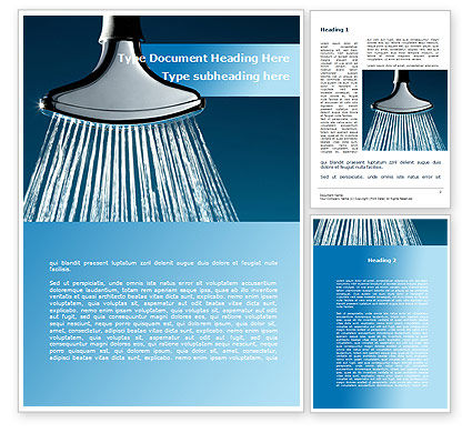Water Sprinkler Word Template, 09171, Nature & Environment — PoweredTemplate.com