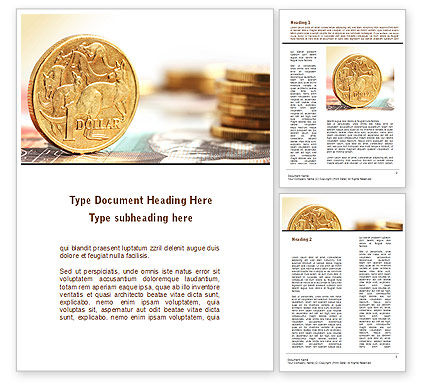 Australian Dollar Word Template